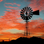 Colin Fletcher_Andreas M Cohrs_California hiking_Mojave Desert_Goffs wind mill sunset