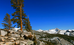 Hiking California_In High Sierra postcard