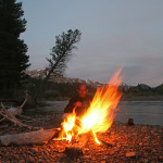 Colin Fletcher_Andreas M Cohrs_California hiking_Northern Sierra_West Walker River campfire