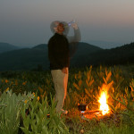 Colin Fletcher_Andreas M Cohrs_California hiking_Warner Mountains_Sunflowers and campfire