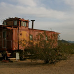 Colin Fletcher_Andreas M Cohrs_California hiking_Mojave Desert_Goffs caboose_train