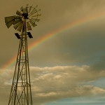 Colin Fletcher_Andreas M Cohrs_California hiking_Mojave Desert_windmill rainbow