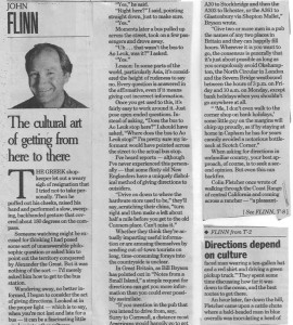 The cultural art of getting from here to there_SF Examiner Dec96