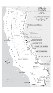 California Map The Thousand Mile Summer Route