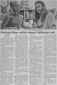 Colin Fletcher Andreas M Cohrs_California Hiking_Lassen Times
