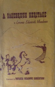 American West vintage books_Patricia Meadows Robertson_A sagebrush heritage