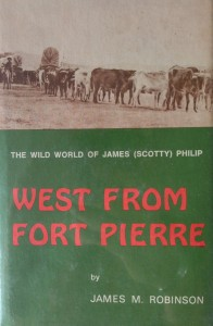 American West vintage books_James M. Robinson_West from Fort Pierre