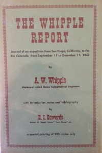 American West vintage books_A.W. Whipple_The Whipple report_Journal of an expedition from San Diego to Colorado 1849